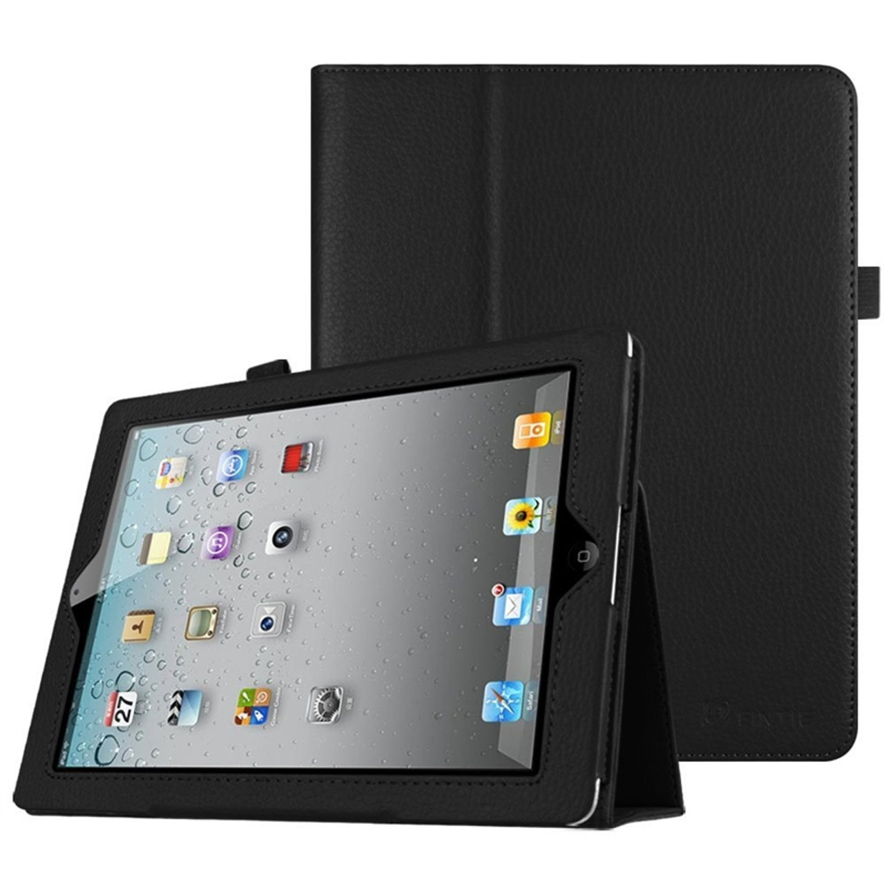 official photos 96146 44d15 Used Fintie iPad 2/3/4 Slim Fit Folio Case with Smart Cover (Black) - Good