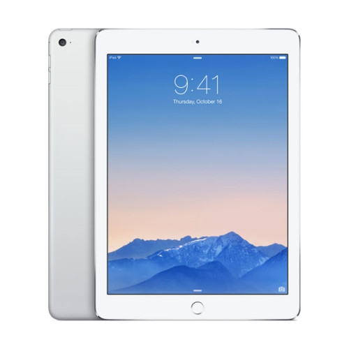Apple iPad Air 2 Wi-Fi + Cellular (Unlocked) 64GB - Silver MH2N2LL/A - Excellent Condition