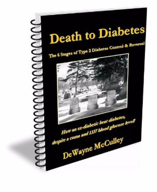 Death to Diabetes book with LARGE TEXT