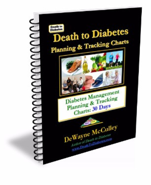 Diabetes management tracking charts booklet cover