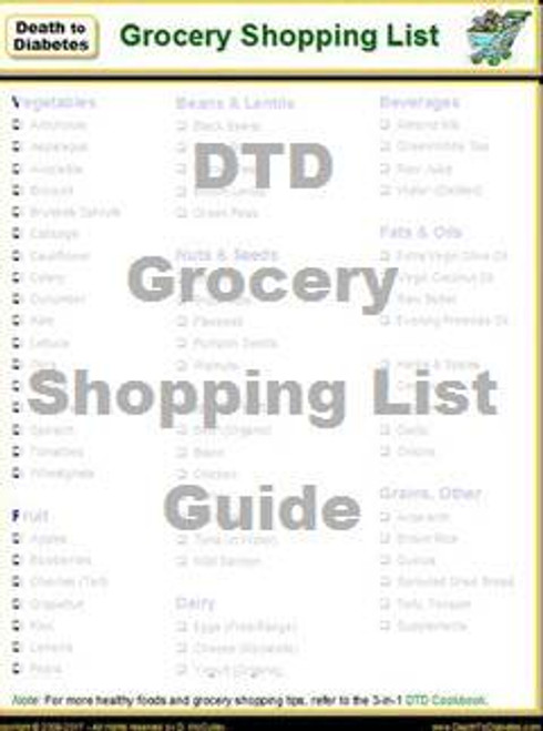 Diabetic Grocery Shopping List