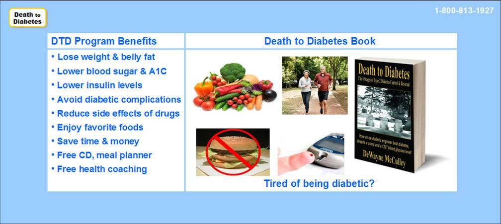 Death to Diabetes Book