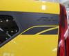 Rear View of Yellow 2022 Kia Soul Side Stripe Graphics OVERSOUL SIDE KIT 2020-2022