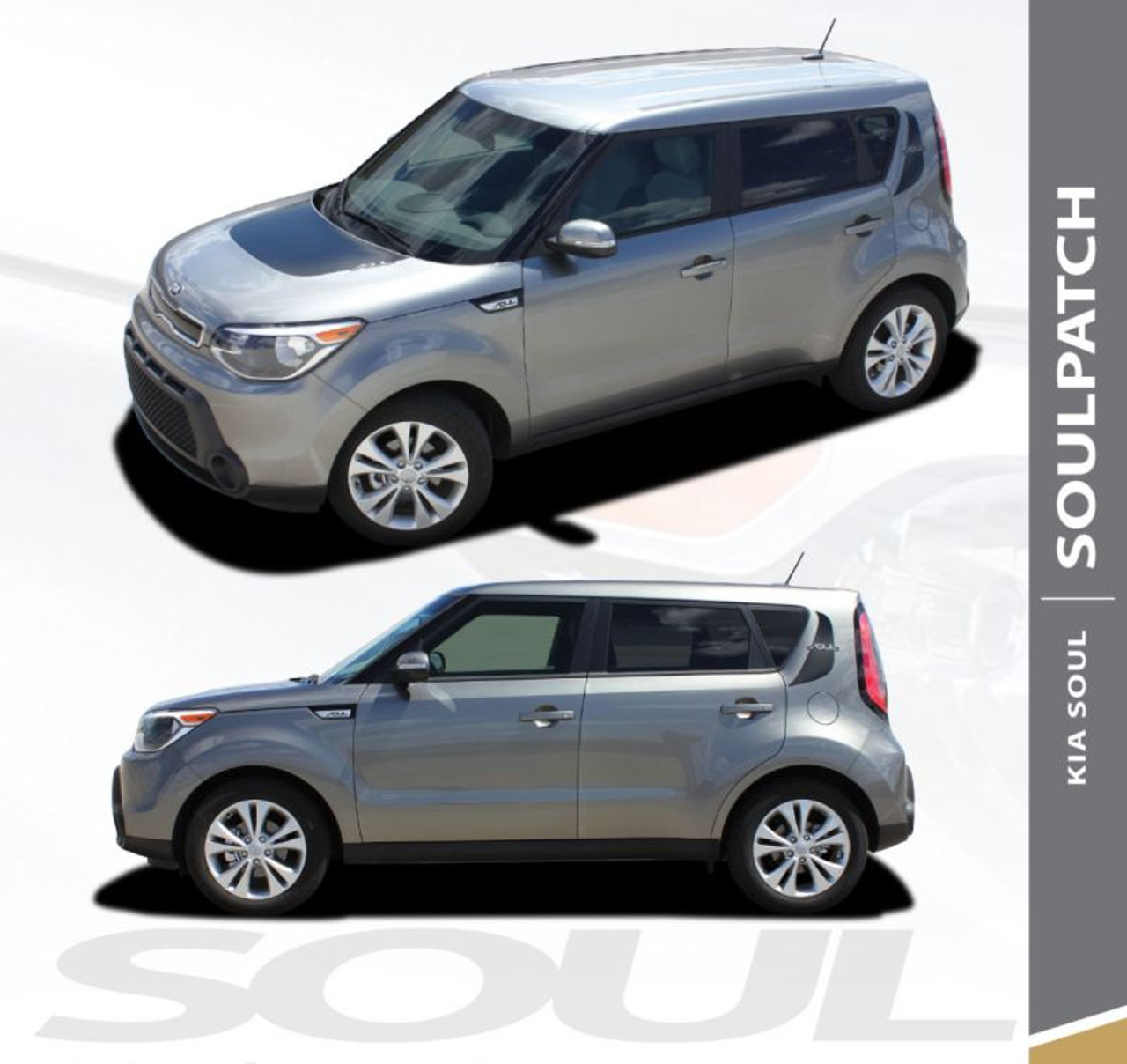 For KIA SOUL Side Accent Stripes Decals 2012 2013 2014 2015 2016 2017 2018 2019
