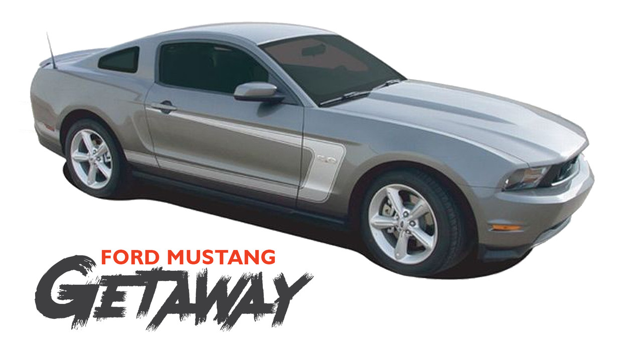 2010 2011 2012 2013 2014 Ford Mustang Side Hockey Stripe Graphics Style 8