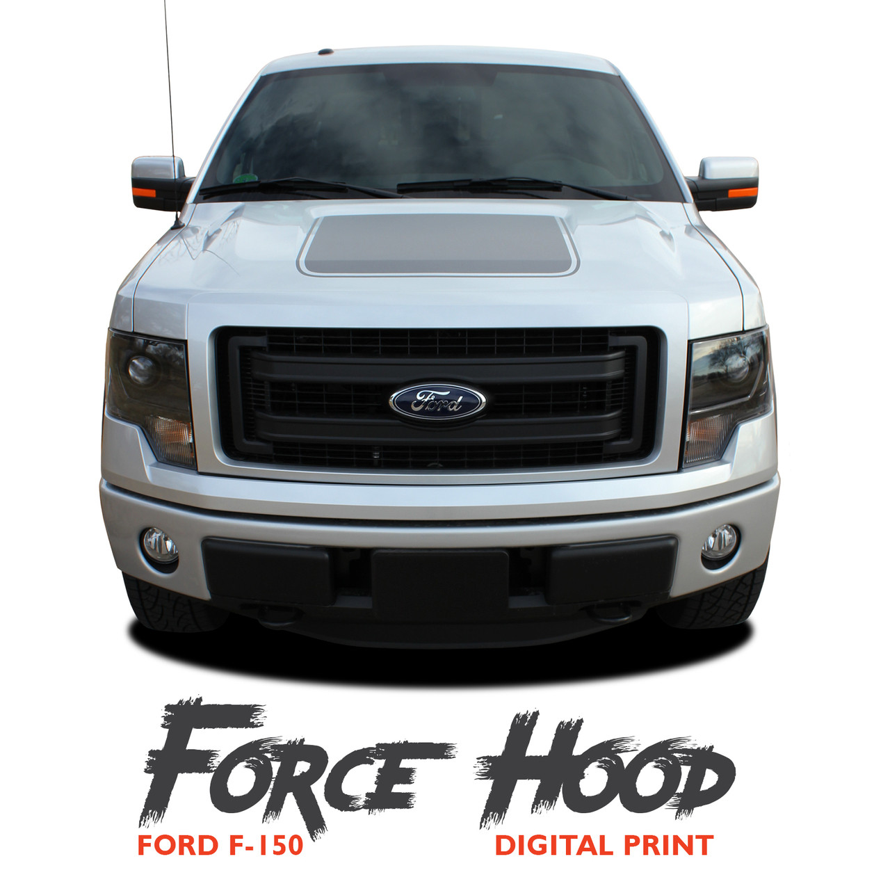 New 2015-2019 Ford F-150 Hood Blackout Force Stripes S Decals Vinyl Graphics