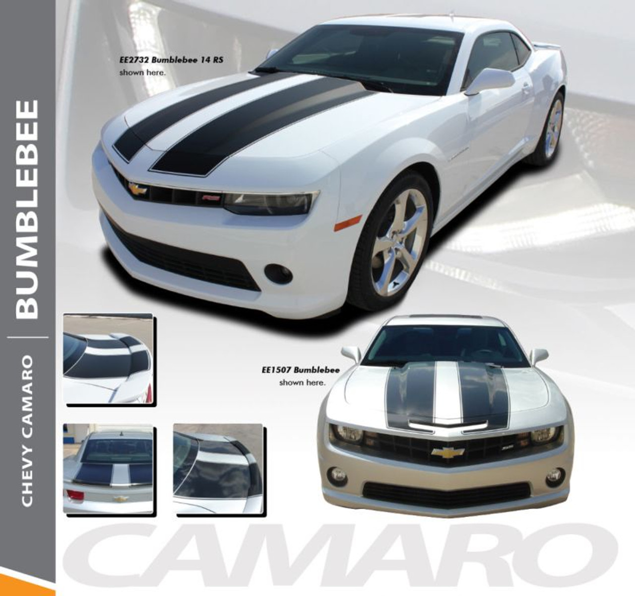 Chevrolet Camaro Over-The-Top Bumblebee Transformers Stripes Decals 2014 2015
