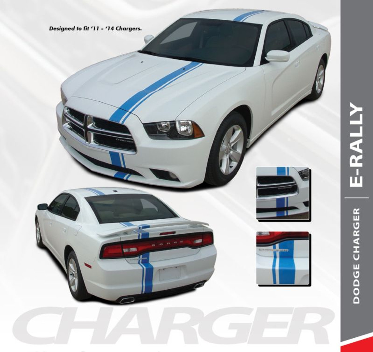 Euro Rally Dodge Charger Stripes Charger Decals Charger Vinyl Graphics
