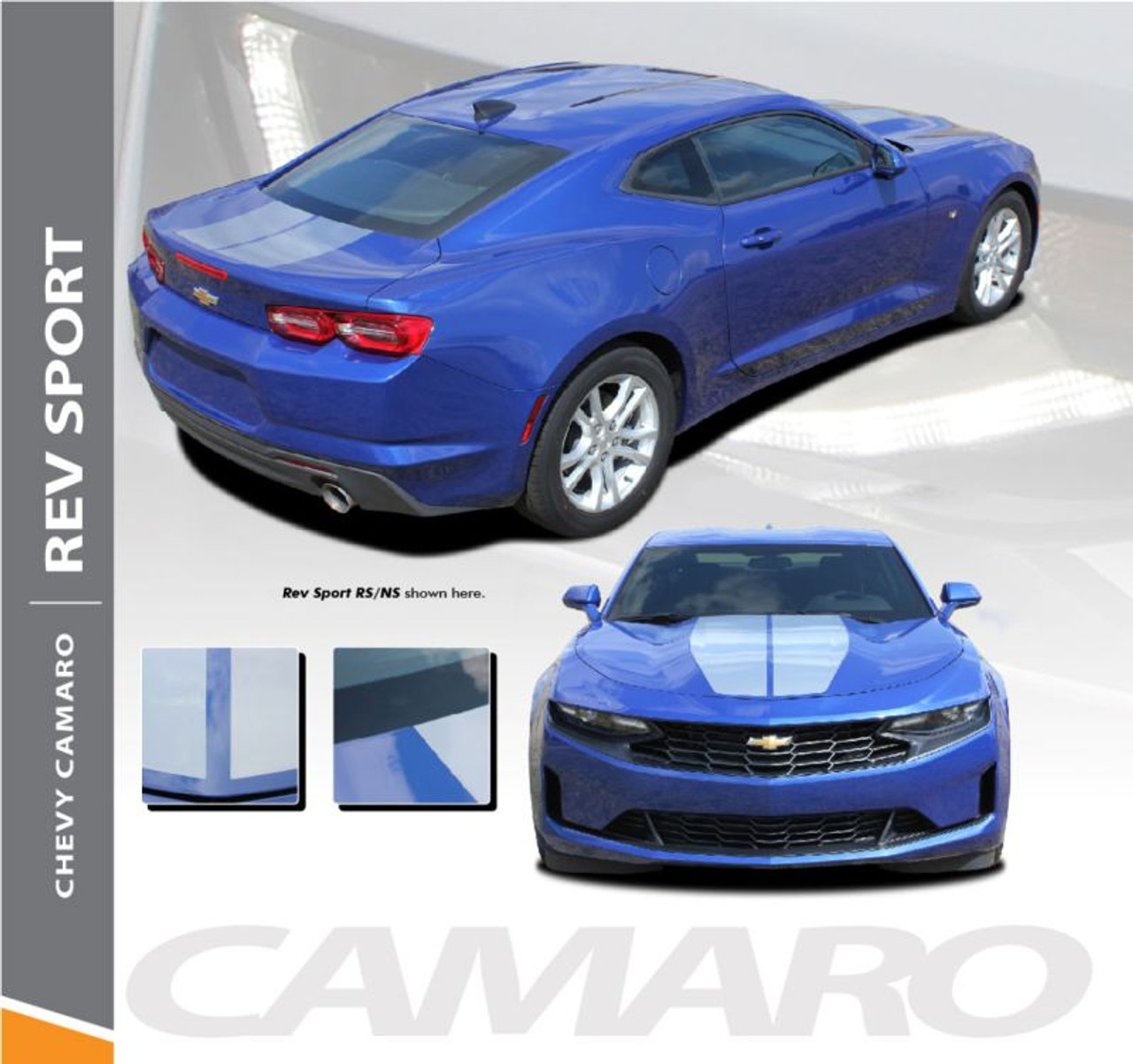 Rev Sport 2019 Camaro Hood Stripes Camaro Hood Decals Vinyl Graphics