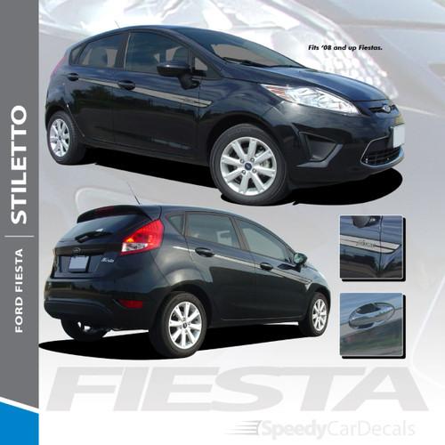 STILETTO : Vinyl Graphics Kit fits 2008-2016 Ford Fiesta