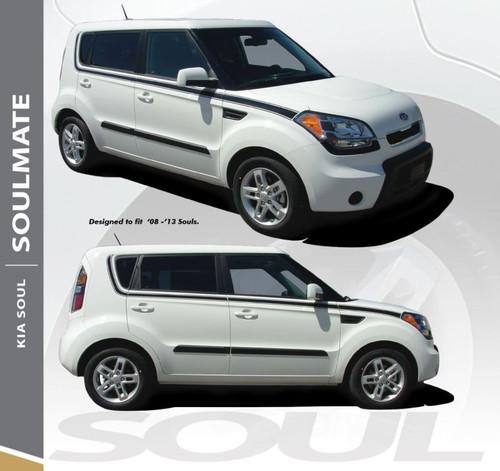 Kia Soul SOUL MATE Upper Body Line Accent Vinyl Graphics Decal Stripe Kit 2010-2013