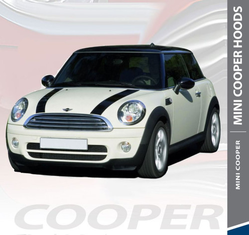 Mini Cooper S-TYPE HOOD Split Hood Striping Vinyl Graphics Decals Kit 2010 2011 2012 2013 2014 2015 2016 2017 2018