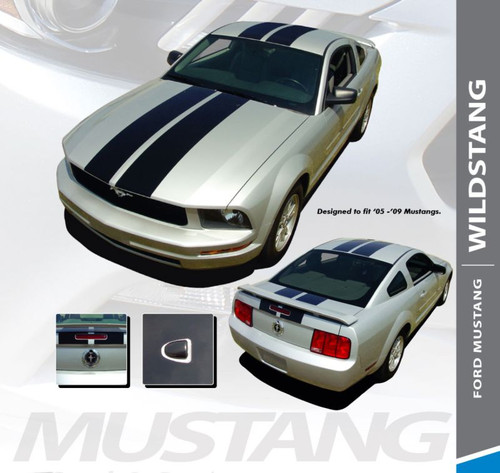 Ford Mustang WILDSTANG Hood Roof Trunk Vinyl Racing Stripes Kit 2005 2006 2007 2008 2009