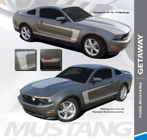 Ford Mustang GETAWAY BOSS C-Stripe Side Door Body Stripse Vinyl Graphics Decals Kit 2010 2011 2012 Models
