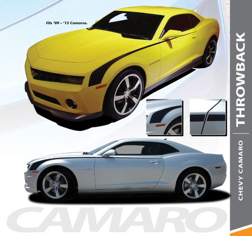 Chevy Camaro THROWBACK Side Accent Hockey Body Decal Vinyl Graphics Stripe Decals Kit fits 2010 2011 2012 2013 2014 2015