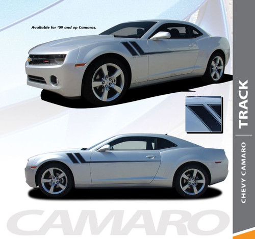 Chevy Camaro TRACK Side Door Hockey Body Decal Vinyl Graphics Stripe Decals Kit fits 2010 2011 2012 2013 2014 2015