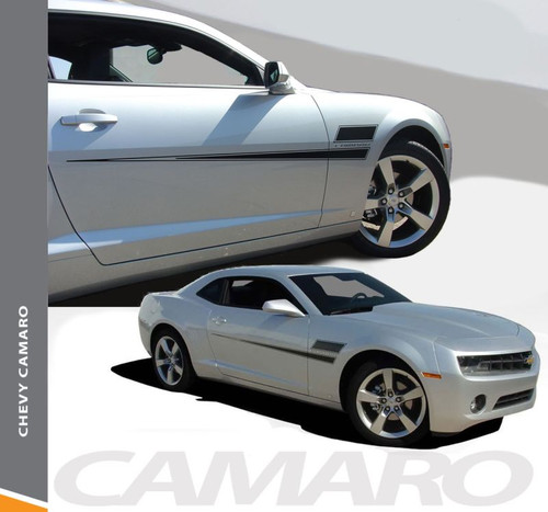 Chevy Camaro SHAKEDOWN Side Door Hockey Body Decal Vinyl Graphics Stripe Decals Kit fits 2010 2011 2012 2013 2014 2015
