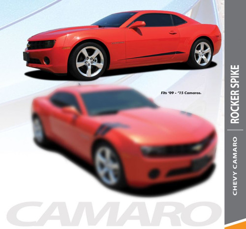 Chevy Camaro ROCKER SPIKES Lower Rocker Door Panel Vinyl Graphic Accent Stripes Kit for 2010 2011 2012 2013 2014 2015 Models