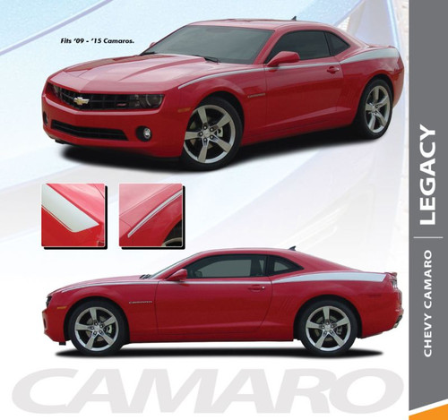 Chevy Camaro LEGACY Upper Body Accent Door Fender Side Vinyl Graphic Stripes Decal for 2010 2011 2012 2013 2014 2015 Models