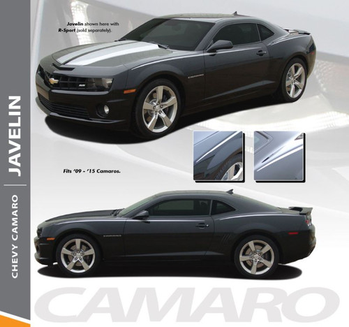 Chevy Camaro JAVELIN Upper Body Door Accent Pin Striping Decal Vinyl Graphic Kit for 2010 2011 2012 2013 2014 2015 Models