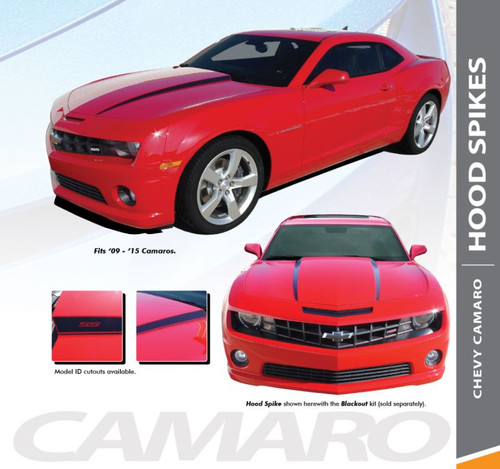 Chevy Camaro HOOD SPEARS Hood Spike Striping Vinyl Graphic Decal Kit for 2010 2011 2012 2013 2014 2015 Models
