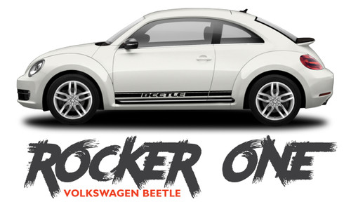 Volkswagen Beetle Lower Door Rocker Panel Striping BEETLE ROCKER ONE Vinyl Graphics Decal Kit 2012-2019