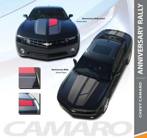 Chevy Camaro ANNIVERSARY R-SPORT 45th Rally Racing Stripes Vinyl Graphics Kit for 2010 2011 2012 2013 2014 2015 Models