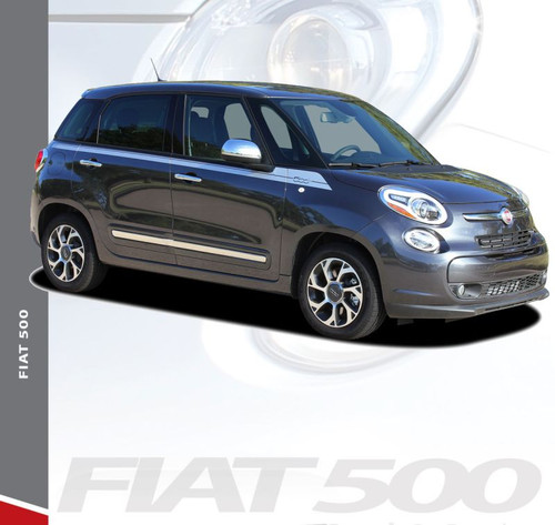 Fiat 500L SIDEKICK Upper Body Door Accent Abarth Vinyl Graphics Stripes Decals Kit for 2014 2015 2016 2017 2018