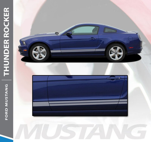 Ford Mustang THUNDER ROCKER Lower Door Panel Body Stripes Vinyl Graphic Decals 2013 2014