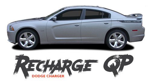 Dodge Charger RECHARGE QUARTER PANELS Rear Body Accent Vinyl Graphics Stripe Decal Kit for 2011 2012 2013 2014 Models