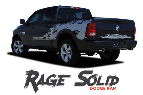 Dodge Ram RAGE Power Wagon Style Bed Striping Tailgate Decals Vinyl Graphics Kit 2009-2018 Models