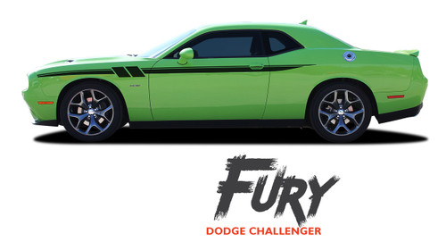 Dodge Challenger FURY Upper Door Accent Vinyl Graphics Stripe Decal Kit fits 2011 2012 2013 2014 2015 2016 2017 2018 2019 2020