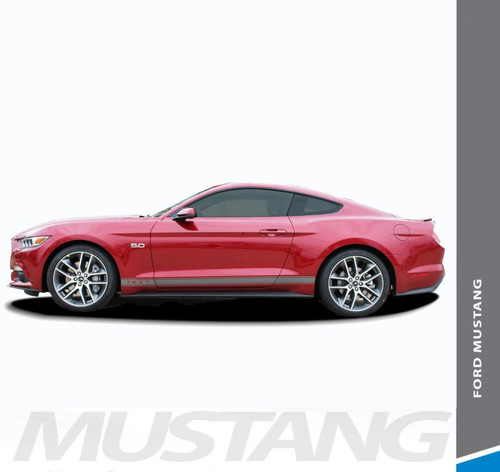 Ford Mustang STALLION ROCKER ONE Lower Door Rocker Panel Body Stripes Vinyl Graphic Decals 2015 2016 2017