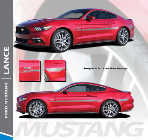 Ford Mustang LANCE Mid-Door Body Accent Stripes Vinyl Graphic Decals 2015 2016 2017