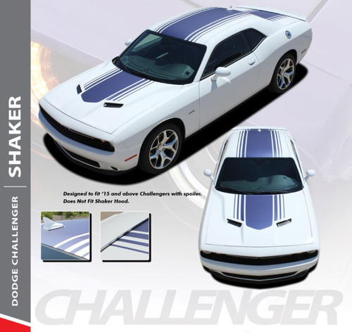 Dodge Challenger SHAKER Factory OEM Shaker Hood Roof Trunk Vinyl Rally Stripe Kit for 2015 2016 2017 2018 2019 2020