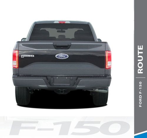 Ford F-150 RODE TAILGATE Pre-Cut Emblem Blackout Vinyl Graphic Decal Stripe Kit for 2015 2016 2017 Models