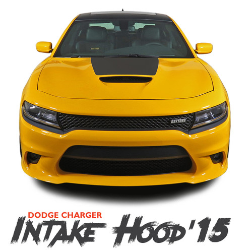 Dodge Charger SE RT Hemi Daytona HOOD 15 Mopar Blackout Style Center Hood Vinyl Graphics Decals Kit 2015-2019