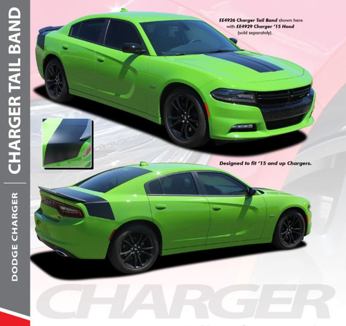 Dodge Charger TAILBAND Daytona R/T SRT 392 Hemi Hellcat Style SE Decklid Trunk Stripe Vinyl Graphics Decals 2015 2016 2017 2018 2019