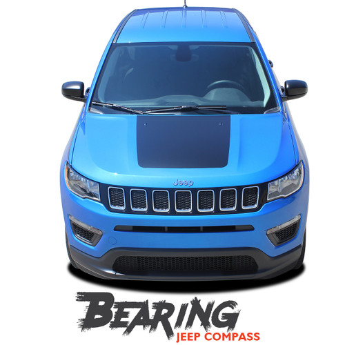 Jeep Compass BEARING SOLID Hood Vinyl Graphics Decal Stripe Kit for 2017 2018 2019