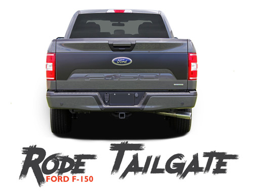 Ford F-150 RODE TAILGATE Pre-Cut Emblem Blackout Vinyl Graphic Decal Stripe Kit for 2018 2019
