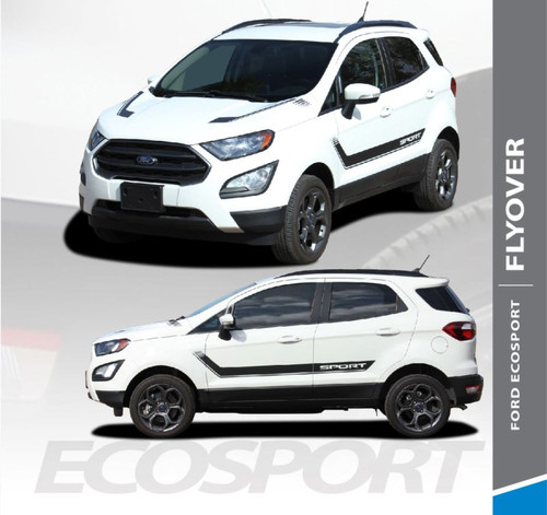 Ford EcoSport Door Stripes and Hood Vinyl Graphics FLYOUT Decal Kit 2013 2014 2015 2016 2017 2018 2019