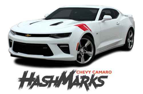 Chevy Camaro HASHMARKS Hood Fender Stripes Hash Slash Vinyl Graphic Decals Stripes 2019 2020