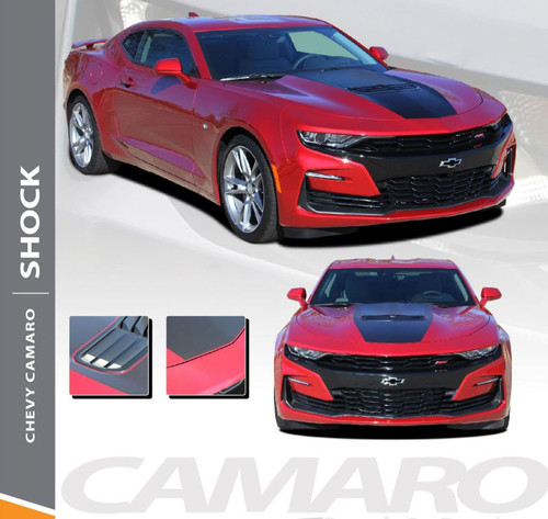 2019 2020 Chevy Camaro Center Stinger Hood Stripe SHOCK Decals Vinyl Graphics Kit