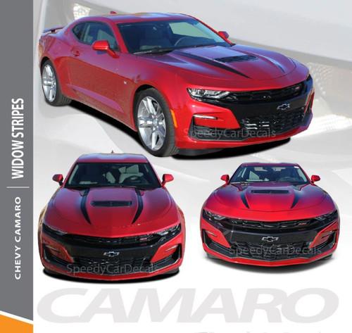 2019 2020 Chevy Camaro Spider Stripes Hood Spear WIDOW Decals Vinyl Graphics Kit