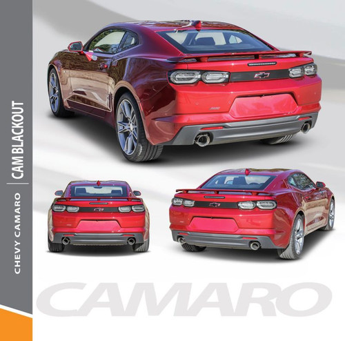 2019-2020 Chevy Camaro Decklid Blackout Decal CAMARO BLACKOUT Rear Trunk Vinyl Graphic Kit