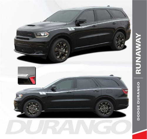 Dodge Durango RUNAWAY Side Door Stripes Decals Vinyl Graphics Kit 2011-2019