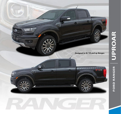 2019 Ford Ranger Upper Body Door Stripes UPROAR  Decals Vinyl Graphics Kit 2019 2020