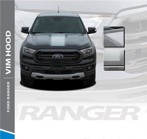 2019 Ford Ranger Center Hood Decals VIM HOOD Stripes Vinyl Graphics Kit 2019 2020