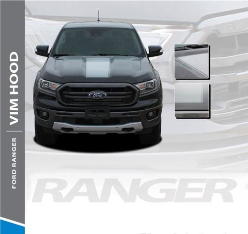 2019 Ford Ranger Center Hood Decals VIM HOOD Stripes Vinyl Graphics Kit 2019 2020