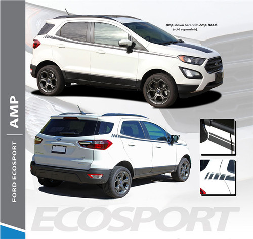 Ford EcoSport Door Stripes Vinyl Graphics AMP SIDES Decal Kit 2013 2014 2015 2016 2017 2018 2019